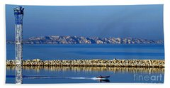 Heading Out To Sea At Dawn Beach Towel by Sue Melvin