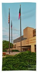 Beach Towel featuring the photograph Health Sciences Medical Center by Mae Wertz