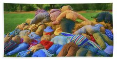 Beach Towel featuring the photograph Heap Of Scarecrows by Nikolyn McDonald