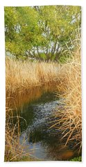 Hear The Croaking Frogs Beach Towel