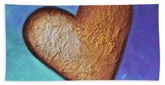 Heart Beach Towel by Agata Lindquist