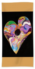 Heart Bowl Beach Towel by Bob Coonts