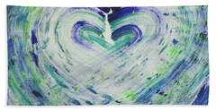 Heart Centered Peace And Love Beach Sheet