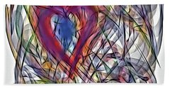 Heart In Motion Abstract Beach Sheet