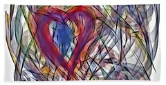 Heart In Motion Abstract Beach Towel