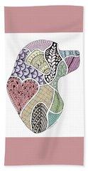 Heart Labrador Doggie Doodle Beach Sheet