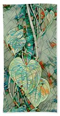 Heart Leaf Mosiac Beach Towel