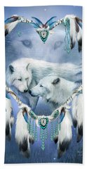 Beach Towel featuring the mixed media Heart Of A Wolf 3 by Carol Cavalaris