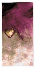 Heart Of Gold Beach Towel