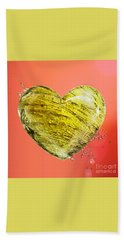 Heart Of Gold Beach Towel