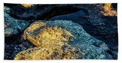 Heart Of Stone Beach Towel by Lana Enderle