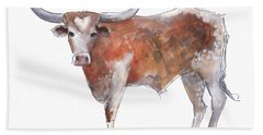Heart Of Texas Longhorn Beach Towel