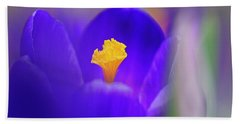 Heart Of The Crocus Beach Towel