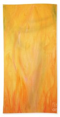 Heart Of The Flame Painting Beach Sheet
