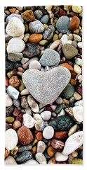 Heart-shaped Stone Beach Towel