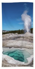 Heart Spring And Lion Geyser Beach Sheet