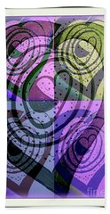 Heart Vortex Labyrinth Beach Towel by Marlene Rose Besso
