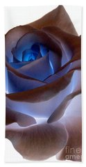 Beach Towel featuring the photograph Heartglow Rose by Writermore Arts