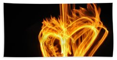 Hearts Aflame -falling In Love Beach Towel