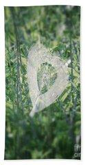 Hearts In Nature - Heart Shaped Web Beach Sheet