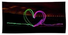 Hearts In The Night Beach Sheet