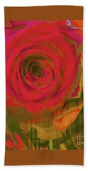 Hearts 'n Flowers-what Quarrel Beach Towel