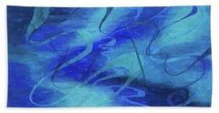 Heartsong Blue 1 Beach Towel