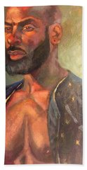 Beach Towel featuring the painting Heat Merchant by JaeMe Bereal