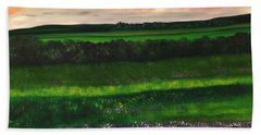 Heathcliff In Purple Beach Sheet by Lisa Aerts