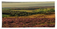 Heather On The Moors Beach Sheet by David  Hollingworth