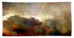 Heaven And Earth - Abstract Art Beach Sheet