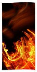Heavenly Flame Beach Sheet by Donna Blackhall