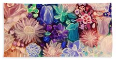 Heavenly Garden Beach Towel by Samantha Thome