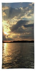 Heavenly River Sunset Beach Sheet by Mary Haber