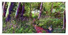 Heavenly Walk Among Birch And Aspen Beach Towel by Jane Small