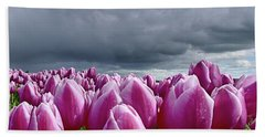 Heavy Clouds Beach Towel by Mihaela Pater