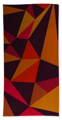 Heavy Composition With Triangles Beach Towel