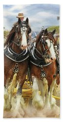 Heavy Horses Beach Towel