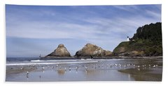Heceta Head Lighthouse 1 Beach Towel
