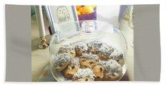 Hedgehog Shortbread Cookies Beach Towel by Denise Fulmer