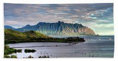 He'eia Fish Pond And Kualoa Beach Towel