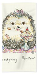 Beach Sheet featuring the mixed media Hedgehog Heaven by Denise Fulmer