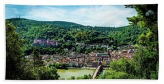 Beach Towel featuring the photograph Heidelberg Germany by David Morefield