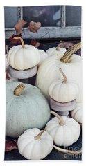 Heirloom Pumpkins And Antlers Beach Sheet
