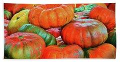Heirloom Pumpkins Beach Towel