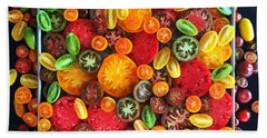 Heirloom Tomato Medley Beach Towel