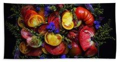Heirloom Tomato Platter Beach Sheet