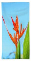 Heliconia Flower Beach Sheet