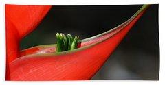 Heliconia Flower Petal Beach Towel