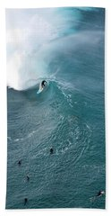 Tubed From Above. Beach Towel
